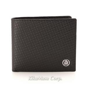 ダンヒル 二つ折り財布 メンズ 小銭入れ有り ブラック L2V332A MICRO D-8 ディーエイト レザー 革 男性用 黒 高級 ブランド dunhill|rocobi