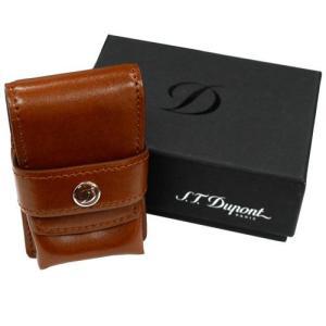S.T.Dupont エス・テー・デュポン レザー ライターケース 180124 ライン2用 ブラウン 茶色 牛革 (コ) rocobi