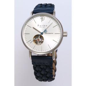 フルボデザイン 腕時計 F2002SSINV シルバー ネイビー レザーベルト 革ベルト スケルトン 自動巻き オートマチック メンズ|rocobi