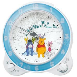 セイコー キャラクター ディズニー タイム FD462W 目覚まし時計 くまのプーさん アナログ 子供|rocobi