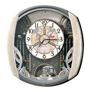 セイコー 電波時計 壁掛け時計 からくり キャラクター ディズニー FW563A メロディー 音楽 アナログ ミッキー ミニーマウス|rocobi