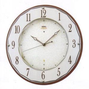 セイコー エンブレム 電波掛け時計 電波時計 壁掛けおやすみ秒針 木枠 茶ブラウン hs524b|rocobi