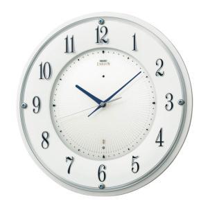 セイコー エンブレム 電波掛け時計 電波時計 壁掛けスワロフスキー クイックスタート機能 木枠 白ホワイト HS543W|rocobi