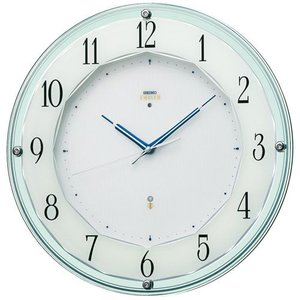 セイコー エンブレム 電波時計 壁掛け時計 電波時計 壁掛け時計 HS546S アナログ シルバー|rocobi