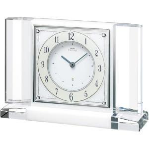 セイコー エンブレム スワロフスキー 高級置時計 HW564Wアナログ 石枠(白大理石)|rocobi