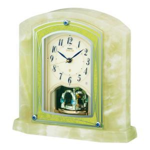 セイコー エンブレム 電波置時計 天然石置時計 HW579M オニキス アナログ|rocobi