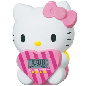 セイコー キャラクター ハローキティ キャラクター目覚まし時計 JF375A 48パターンのおしゃべり 温度表示 デジタル rocobi
