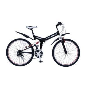 CHEVROLET WサスFD-MTB26 18SE シボレー26インチ 折り畳み MTB 18段ギア ダブルサス付き 自転車 365 ミムゴ 折りたたみ マウンテンバイク rocobi