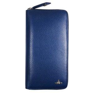 ヴィヴィアン ウエストウッド NO,10 MILANO ラウンドファスナー 長財布 51080021 BLUE 18SS ブルー 青 メンズ 男性用|rocobi