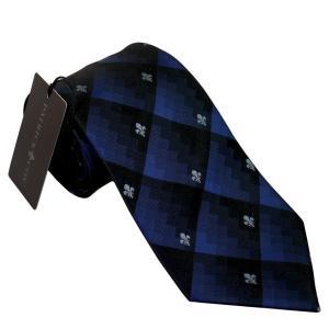 PATRICK COX パトリックコックス ネクタイ 先幅約8.5cm PC-001-NAVY ネイビーブルー チェック柄 紺色|rocobi