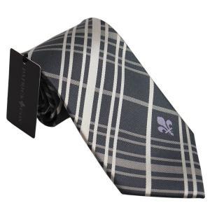 PATRICK COX パトリックコックス ネクタイ 先幅約8.5cm PC-014-GRAY グレー チェック柄 灰色|rocobi