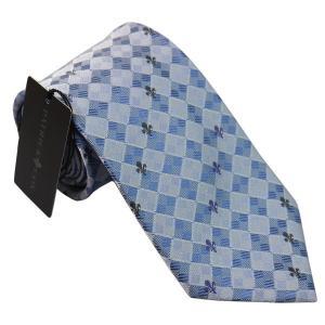 PATRICK COX パトリックコックス ネクタイ 先幅約8.5cm PC-016-BLUE ブルー チェック柄 青|rocobi
