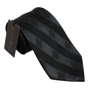 PATRICK COX パトリックコックス ネクタイ 先幅約8.5cm PC-017-BLACK ブラック チェック柄 黒|rocobi