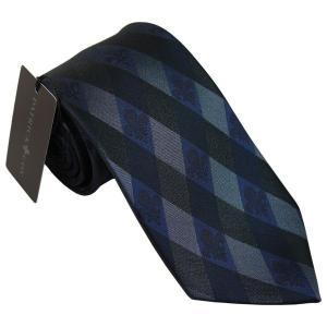 PATRICK COX パトリックコックス ネクタイ 先幅約8.5cm PC-017-NAVY ネイビーブルー チェック柄 紺色|rocobi