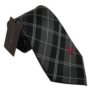 PATRICK COX パトリックコックス ネクタイ 先幅約8.5cm PC-018-BLACK ブラック チェック柄 黒|rocobi