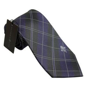 PATRICK COX パトリックコックス ネクタイ 先幅約8.5cm PC-018-PURPLE パープル チェック柄 紫色|rocobi