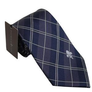 PATRICK COX パトリックコックス ネクタイ 先幅約8.5cm PC-018-NAVY ネイビーブルー チェック柄 紺色|rocobi