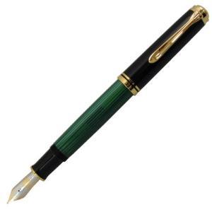 Pelikan ペリカン スーベレーン M1000 グリーン 縞 万年筆 高級 文具