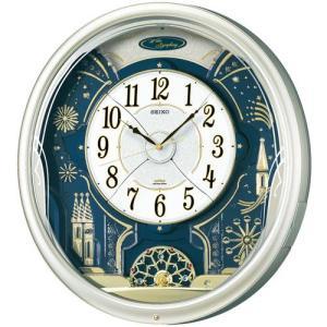 セイコー 電波時計 壁掛け時計 からくり RE561H 薄金色パール塗装 メロディー 音楽 自動鳴止め アナログ|rocobi