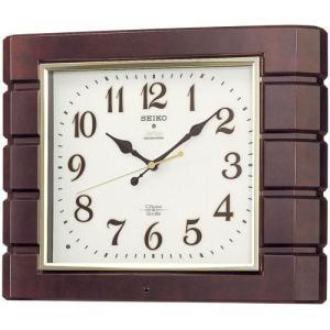 セイコー チャイム&ストライク 連続秒針 自動鳴り止め 電波掛け時計 電波時計 壁掛け時計 RX209B アナログ 濃茶 rocobi