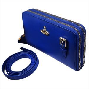 ヴィヴィアン ウエストウッド 長財布 レディース No10 SAFFIANO ショルダー ラウンドファスナー ポシェットタイプ 51050026 BLUE 18SS ブルー 青 女性用|rocobi