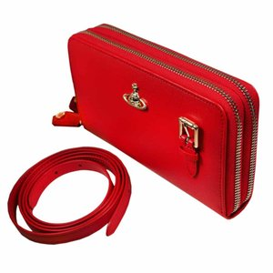 ヴィヴィアン ウエストウッド 長財布 レディース No10 SAFFIANO ショルダー ラウンドファスナー ポシェットタイプ 51050026 RED 18SS レッド 赤 女性用|rocobi