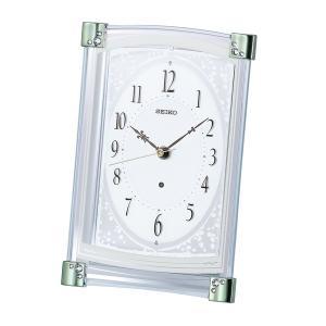 セイコー 電波 置時計 BZ360M スワロフスキー クリスタル 薄緑 アナログ rocobi
