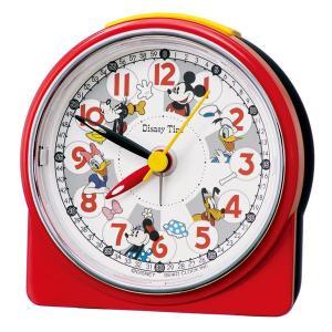 セイコー クロック ディズニータイム クォーツ 目覚まし時計 FD480R 子供用 知育にも ミッキー&フレンズ レッド 赤 アナログ SEIKO CLOCK rocobi