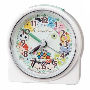 セイコー クロック ディズニータイム クォーツ 目覚まし時計 FD481W 子供用 知育にも ディズニーツムツム 白パール塗装 ホワイト アナログ SEIKO CLOCK rocobi