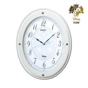 セイコー FS502W 大人ディズニー 高級電波時計 壁掛け 白塗装光沢 アナログ 掛時計 おしゃれ プリンセス キャラクター rocobi
