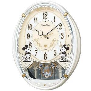 セイコー ディズニー ミッキー&フレンズ 電波時計 壁掛け時計 FW579W 飾り振り子 白パール ホワイト アナログ rocobi