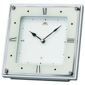 セイコー エンブレム HW586W 電波置時計 白パール ホワイト|rocobi