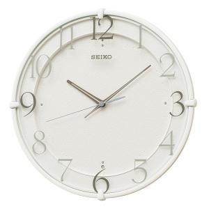 セイコー スタンダード 電波時計 壁掛け時計 KX215W 連続秒針 白 アナログ rocobi