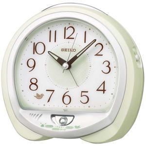 セイコー クロック クォーツ 目覚まし時計 QM748M 鳥のさえずり 鳴き声 かわいい アナログ SEIKO CLOCK rocobi