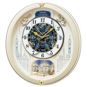 セイコー クロック 電波時計 壁掛け時計 からくり RE579S メロディー 音楽 報時 時報 アナログ SEIKO CLOCK|rocobi