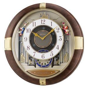 セイコー クロック アミュージングクロック クォーツ 壁掛けからくり時計 RE816B 回転飾り 茶マーブル模様塗装 アナログ SEIKO CLOCK|rocobi