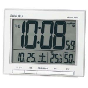 セイコー クロック 電波置き時計 SQ786S 温度計 湿度計 デジタル SEIKO CLOCK|rocobi