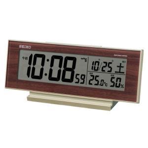 セイコー クロック 電波時計 目覚まし時計 SQ788B 温度計 湿度計 日付 曜日 デジタル SEIKO CLOCK|rocobi