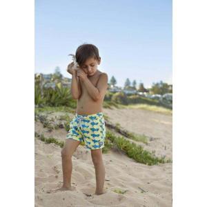 トム & テディー 水着 エアプレーン・イエロー&ブルー キッズ サイズ 男児用 サーフパンツ ハーフパンツ 男の子|rocobi