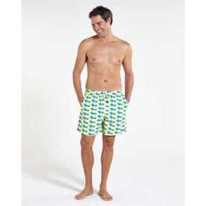 トム & テディー 水着 エアプレーン・イエロー&ブルー メンズ サイズ 男性用 サーフパンツ ハーフパンツ|rocobi