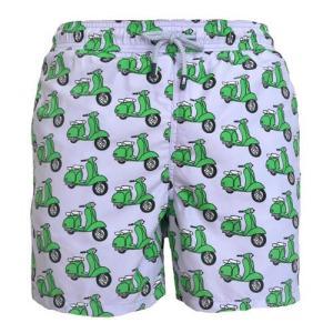 トム & テディー 水着 スクーター・パープル&グリーン キッズ サイズ 男児用 サーフパンツ ハーフパンツ 男の子|rocobi