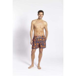 トム & テディー 水着 オクトパス・ブルー & オレンジ メンズ サイズ 男性用 サーフパンツ ハーフパンツ|rocobi