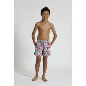 トム & テディー 水着 オクトパス・ブルー & レッド キッズ サイズ 男児用 サーフパンツ ハーフパンツ 男の子|rocobi
