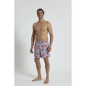 トム & テディー 水着 オクトパス・ブルー & レッド メンズ サイズ 男性用 サーフパンツ ハーフパンツ|rocobi