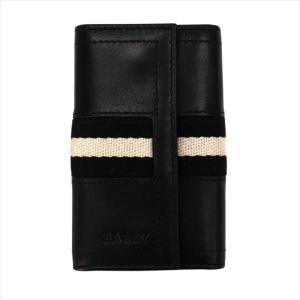 バリー BALLY TUTO カラー290 BLACK 6168840 キーケース ブラック 黒 レザー 本革 メンズ 男性用|rocobi
