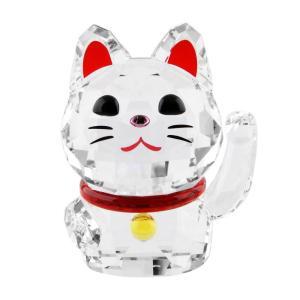 スワロフスキー SWAROVSKI 5301582 招き猫モチーフ ラッキーキャット クリスタル フィギュア 置物 Chat Porte Bonheur rocobi