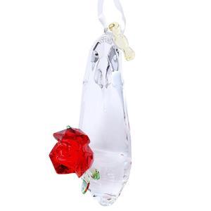 スワロフスキー SWAROVSKI 5384696 ディズニー 美女と野獣 「ベルの靴」 オーナメント 飾り紐付 クリスタル フィギュア 置物 Disney|rocobi