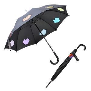 フルトン Fulton L764 033739 Kensington-2 Rainbow Lips ルルギネス コラボモデル 型抜き リップデザイン 長傘 アンブレラ 雨傘 rocobi