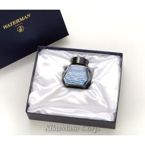 ウォーターマン インクセットボックス(万年筆用ギフトボックス) ブルーブラックボトルインク50ml付き (消耗品) rocobi