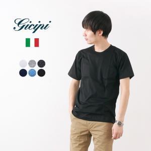 GICIPI(ジチピ) コットン クルーネック ポケットTシャツ シルケット|rococo
